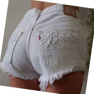 Levi's 501 studded distressed cutoff shorts